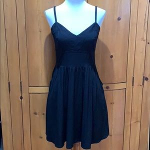 Express black fitted cotton dress, size S, NWT